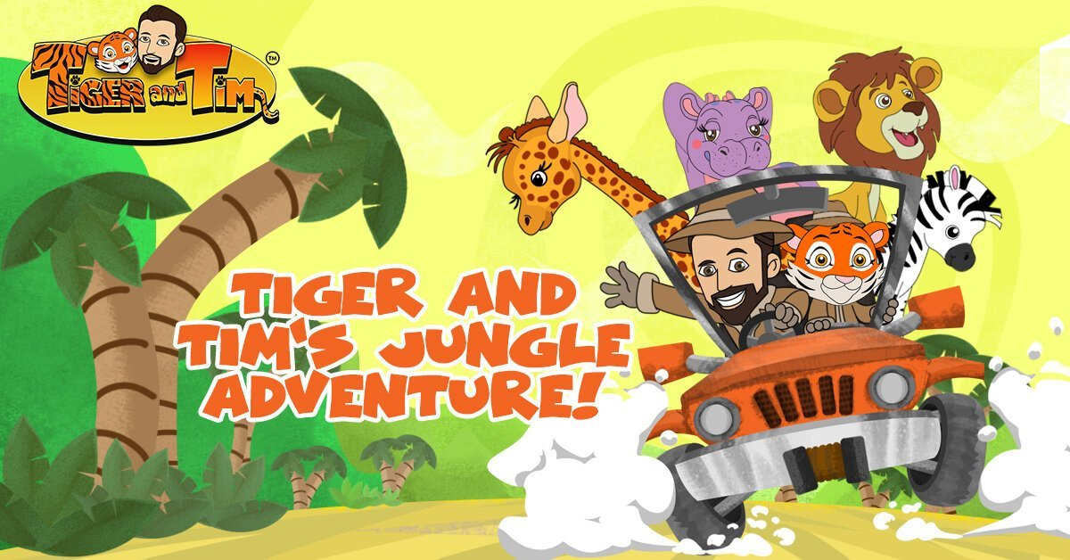 Tiger and Tim in the jungle